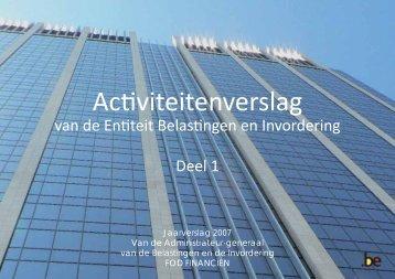 Activiteitenverslag van de Entiteit Belastingen en ... - Fiscus.fgov.be