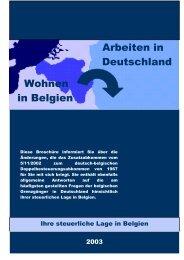 Arbeiten in Deutschland Wohnen in Belgien - Fiscus.fgov.be