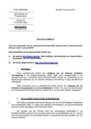 Administratie van Fiscale Zaken - Fiscus.fgov.be