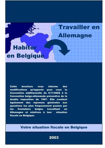 Habiter en Belgique - Travailler en Allemagne - Fiscus.fgov.be
