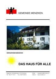 Broschüre Bürgerheim 2010