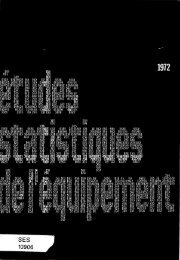 Statistiques des permis de construire - Résultats annuels 1972 - Temis