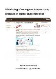 Speciale Christensen og Fonsdal - Projektbiblioteket - Aalborg ...