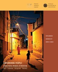EMPOWERING PEOPLE - World Resources Institute
