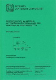 SVERIGES LANTBRUKSUNIVERSITET - Epsilon Open Archive - SLU