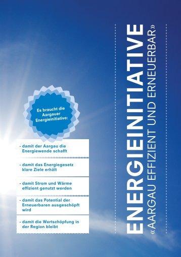 Argumentarium «Aargau effizient und erneuerbar