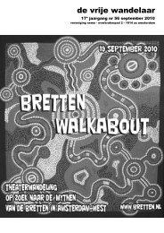 Vrije Wandelaar najaar 2010 (Walkabout) - Nemo