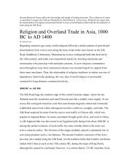 Religion and Overland Trade in Asia, 1000 BC to AD 1400