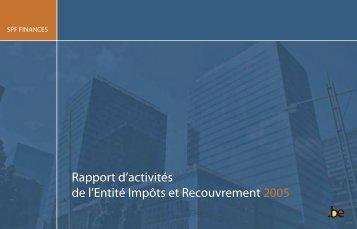 Rapport d'activités 2005 - Fiscus.fgov.be