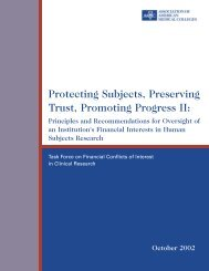 Protecting Subjects, Preserving Trust, Promoting Progress II: