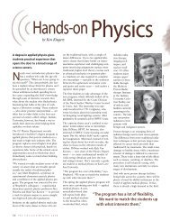 Hands-on Physics - Applied Physics - Indiana University