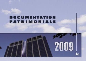 DOCUMENTATION PATRIMONIALE - Fiscus.fgov.be