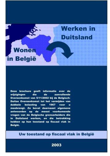 Wonen in België - Werken in Duitsland - Fiscus.fgov.be