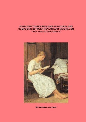 schrijven tussen realisme en naturalisme - DSpace at Open ...