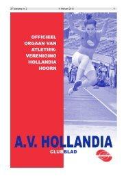 30e jaargang nr. 2 11 februari 2010 1 - AV Hollandia