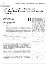 A Prospective Study of Prenatal and Childhood Lead Exposure and ...