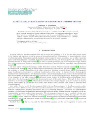 variational formulation of eisenhart's unified theory - Department of ...