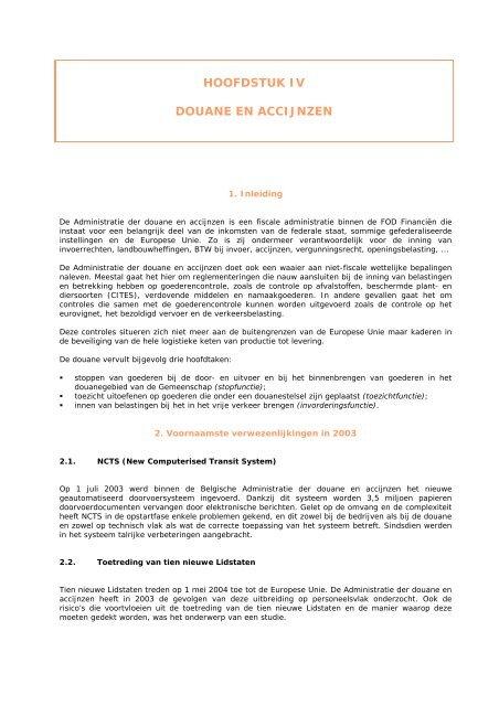 Douane en Accijnzen - Fiscus.fgov.be