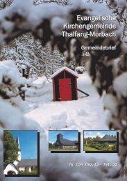 Gemeindebrief 104 - Kirchengemeinden Thalfang-Morbach