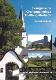 Gemeindebrief 91 - Kirchengemeinden Thalfang-Morbach