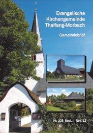 Gemeindebrief 103 - Kirchengemeinden Thalfang-Morbach