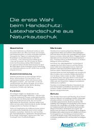 Natural Rubber Latex_DE.indd - Ansell Healthcare Europe