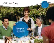 Hear better? Now I even see better - Oticon