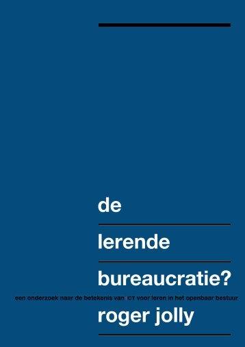 De lerende bureaucratie - RePub - Erasmus Universiteit Rotterdam
