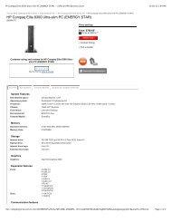 HP Compaq 8100 Elite Convertible Minitower PC - Added Dimension