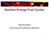 Lecture 17 - Energy & Society - University of California, Berkeley
