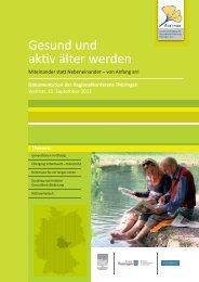 Gesund und aktiv älter werden in Thüringen - Agethur