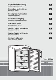 Gebrauchsanweisung Operating instructions Consignes d ... - Liebherr