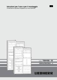 Istruzioni per l'uso e per il montaggio 201009 7084408 - 02 - Liebherr