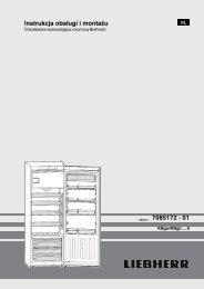 Instrukcja obsługi i montażu 080611 7085172 - 01 - Liebherr