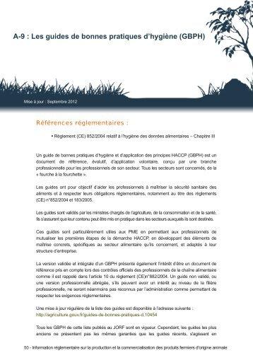 Les guides de bonnes pratiques d'hygiène (GBPH) - DRAAF Rhône ...