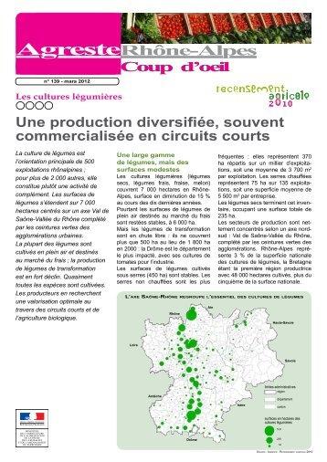 Les cultures légumières - DRAAF Rhône-Alpes