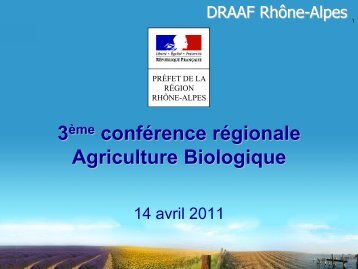Evolutions récentes de l'agriculture biologique en Rhône-Alpes