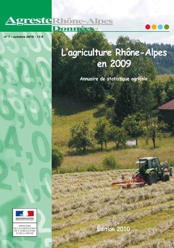 Accéder à l'annuaire de statistique agricole - DRAAF Rhône-Alpes
