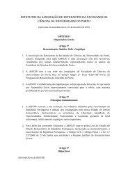 Estatutos Atuais - AEFCUP