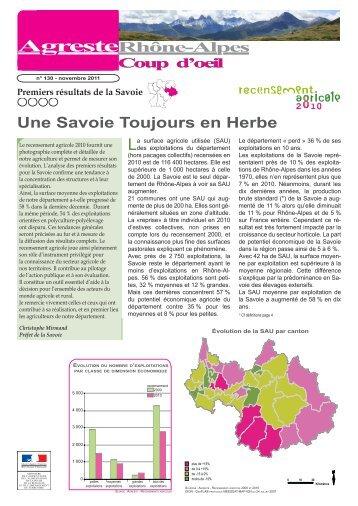 Une Savoie Toujours en Herbe - DRAAF Rhône-Alpes