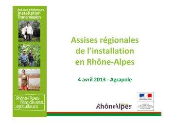 installations aidées - DRAAF Rhône-Alpes