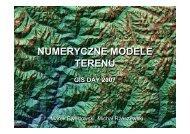numeryczne modele terenu numeryczne modele terenu