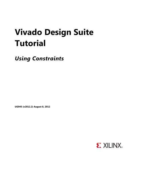 Vivado Design Suite Tutorial - Xilinx