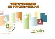 Les actions en faveur de la protection des espaces agricoles ...