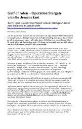 Gulf of Aden – Operation Stargate utanför Jemens kust - iFokus