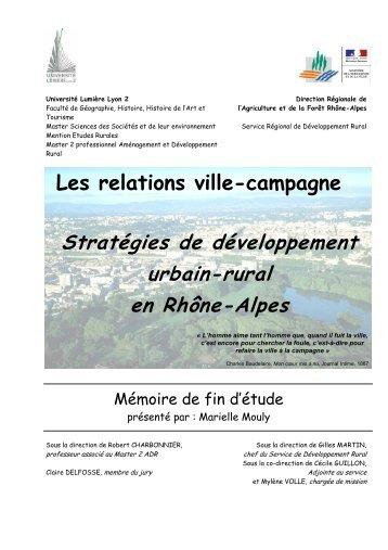 Les relations ville-campagne - DRAAF Rhône-Alpes