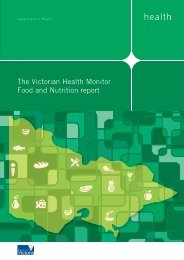 The Victorian Health Monitor Food and Nutrition ... - health.vic.gov.au