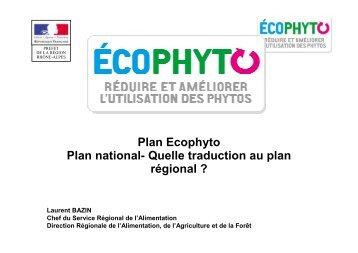 Plan Ecophyto - DRAAF Rhône-Alpes