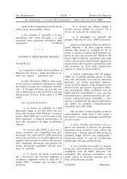Lavoro e previdenza sociale - XIII Legislatura - Camera dei Deputati