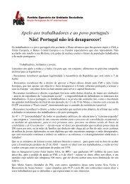 Apelo aos trabalhadores e ao povo português Não ... - AEFCUP